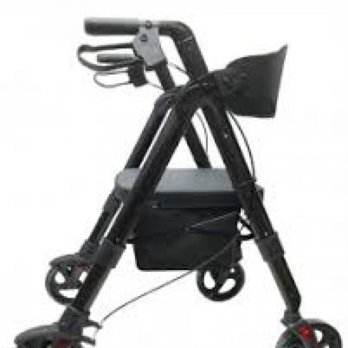 WALKER - SOFT BLACK ROLLATOR 8