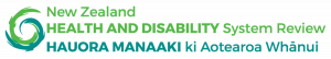 Health and Disability system review logo