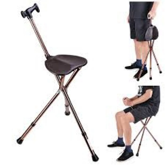 Tripod Cane with Seat